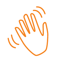 DeltaLifeSkills_icon wave outline orange white circle